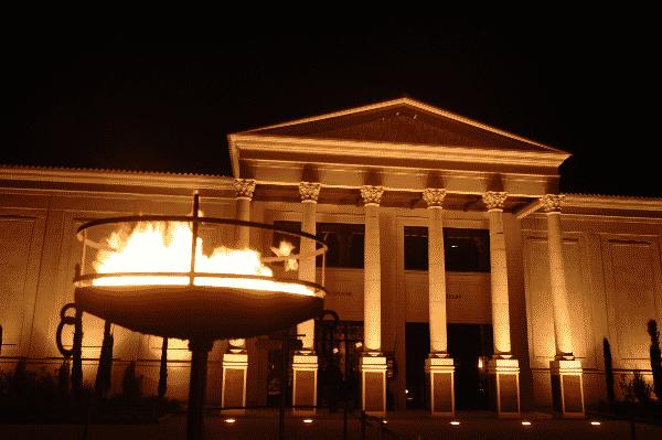 La Villa Gallo-Romaine de nuit