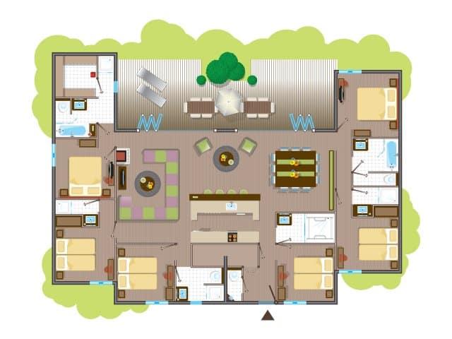 Plan intérieur grand cottage