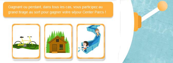 Gagner Center Parcs gratuit