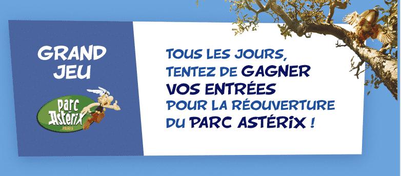 Gagner entrée gratuite Parc Astérix 2018