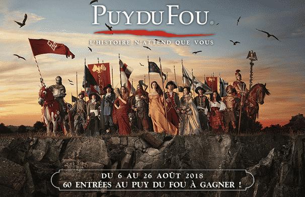 Gagner entrée au Puy du Fou 2018