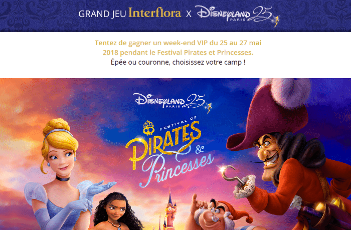 Gagner weekend vip à Disneyland Paris