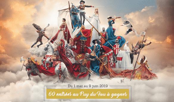 Entrée gratuite Grand Parc Puy du Fou 2019