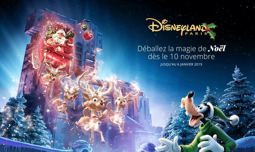 Gagner billet Noël Disneyland Paris