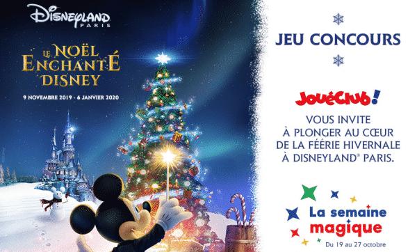 Gagner billet Noël Disneyland Paris avec JouéClub
