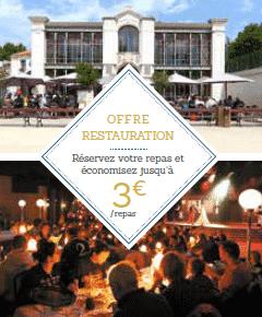 Réduction repas restaurant Puy du Fou