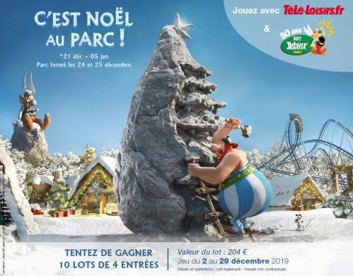 gagner Parc Astérix Noël