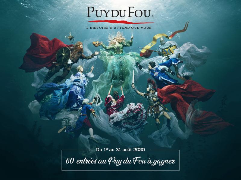Gagner des entrées au Puy du Fou saison 2020
