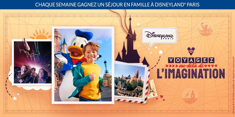 Gagner un séjour à Disneyland Paris en 2020