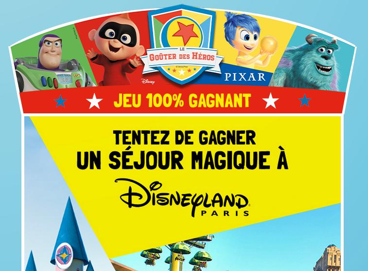 Jeu Pixar Bel gagner Disneyland Paris